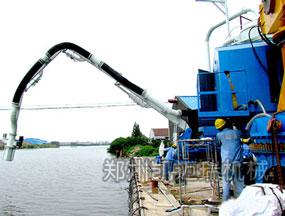 气力式卸船机广西贵港工作中